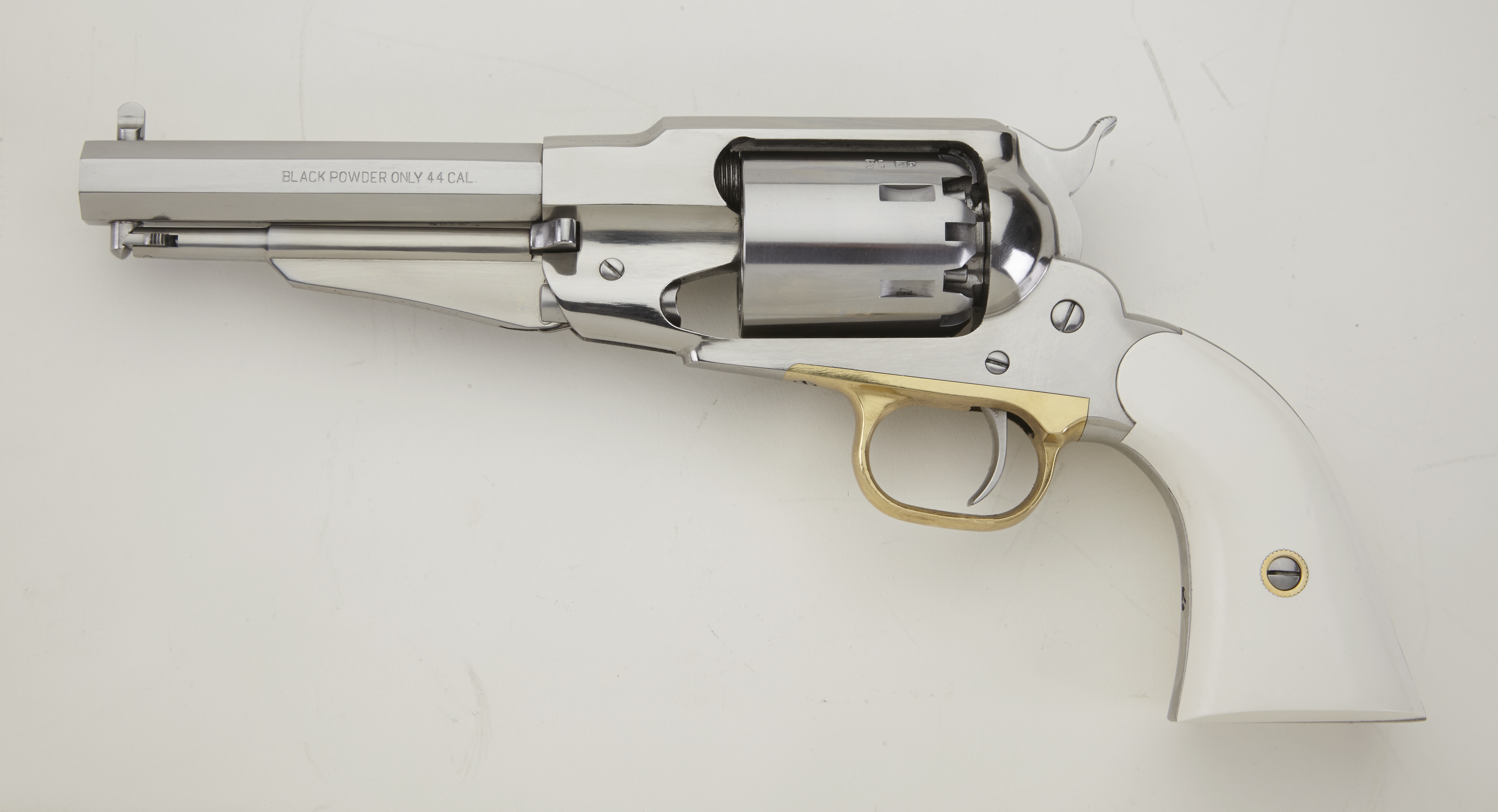 1858 REMINGTON STAINLESS STEEL SHERIFF  44 5 1/2
