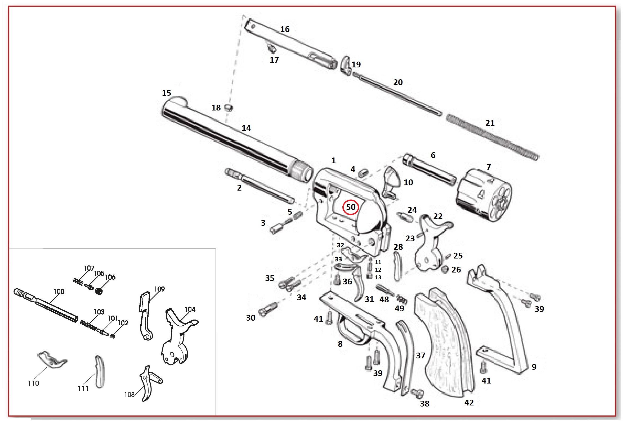 #50 1873 GWII Firing Pin Bushing For Frame (Recoil Shield)